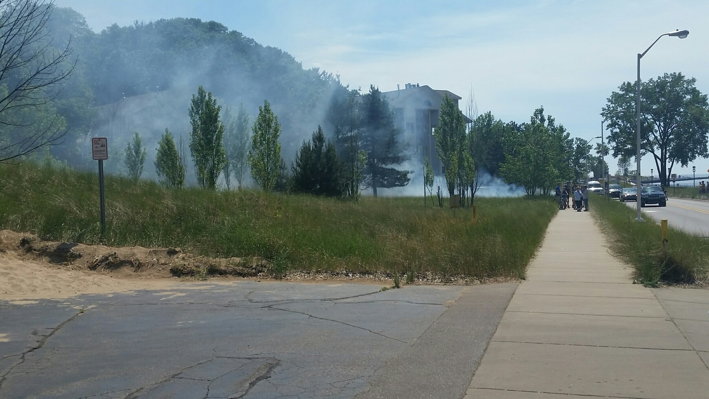 Photos: Electrical problem causes brush fire in Grand Haven