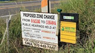 Rezoning sign