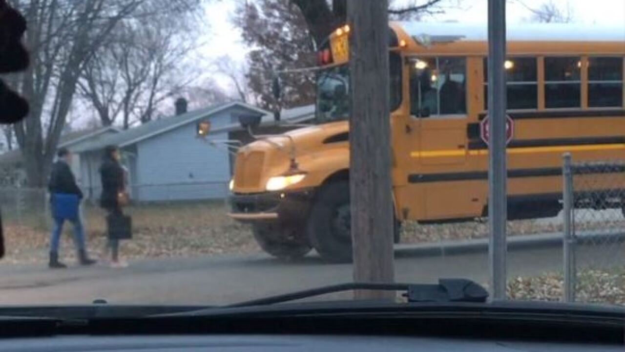 Parents concerned bus driver not using stop arm