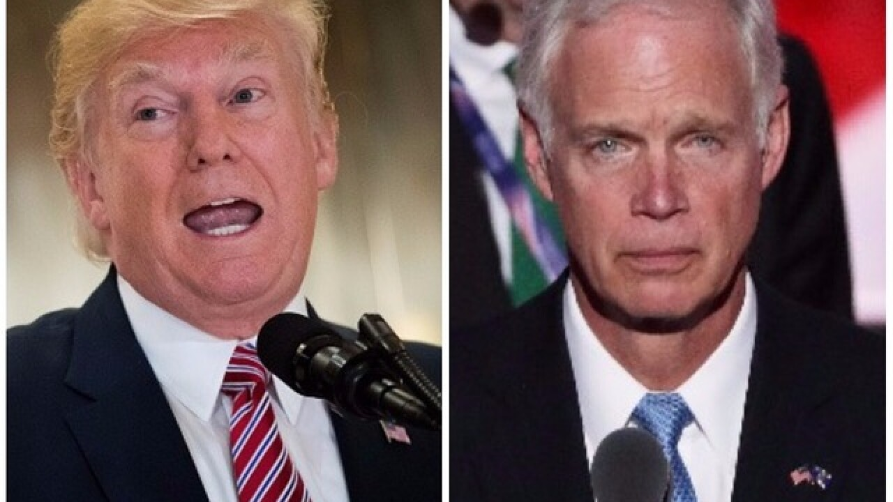 Republican Sen. Johnson says he's uncomfortable with Trump
