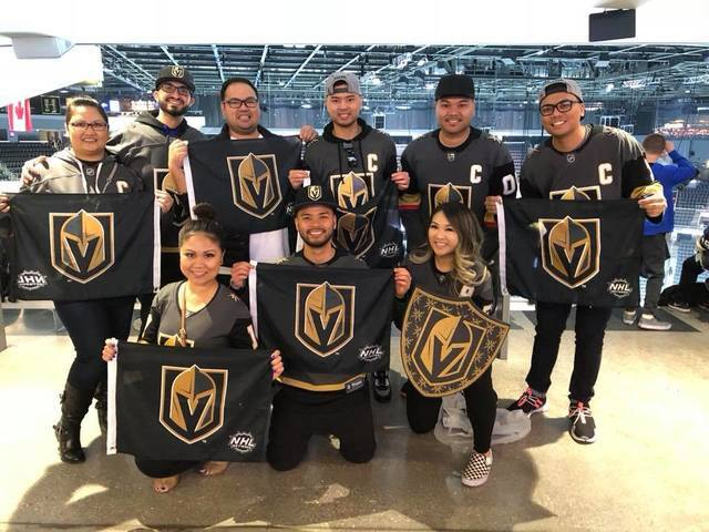 PHOTOS: Local fans show Vegas Golden Knights spirit