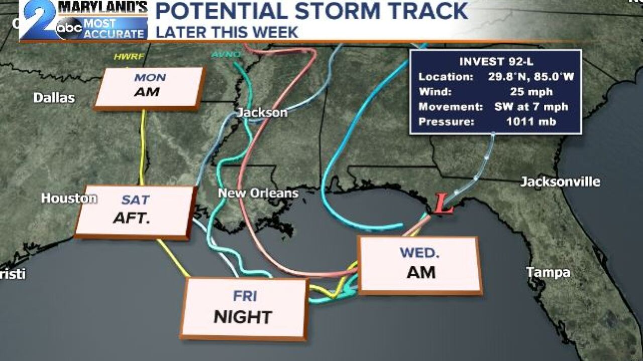 Potential Tropical System To Strengthen