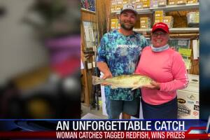 Prized tagged redfish caught by Texas woman