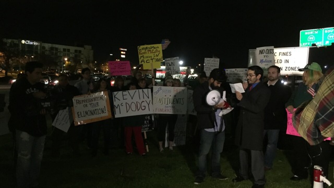 Protesters ask Kevin McCarthy for town hall