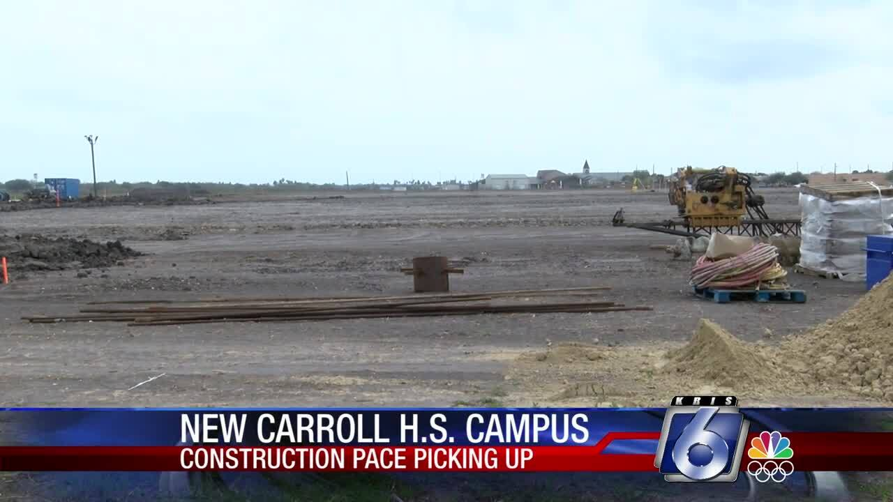 Construction picking up at the Carroll site