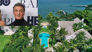 Sylvester Stallone over picture of new Palm Beach mansion