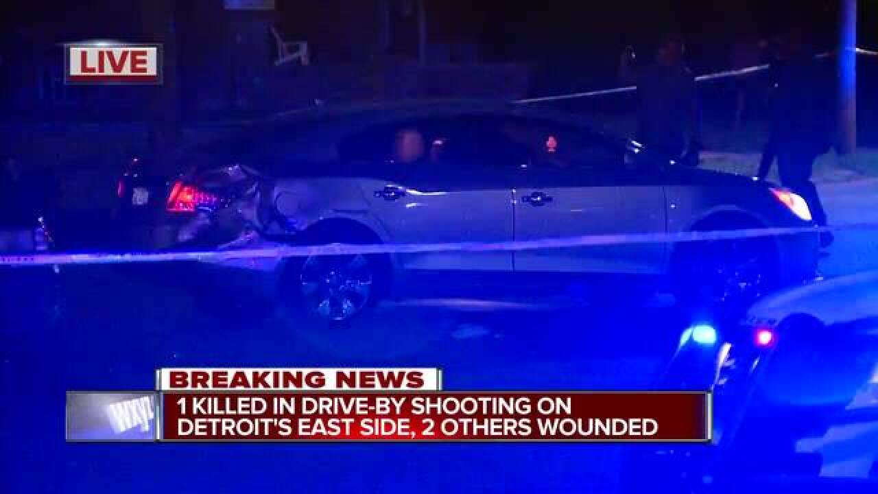 1 killed, 2 wounded in drive-by shooting