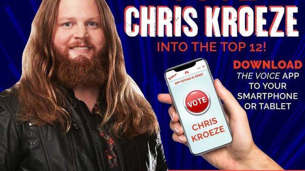 How you can vote for Wisconsin native Chris Kroeze on 'The Voice'