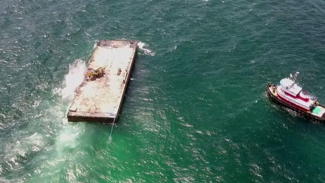 530 tons of limestone used to make artificial reef in Boca Raton