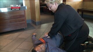 People Taking Action: Woman helps to save co-worker having heart attack in NewportNews