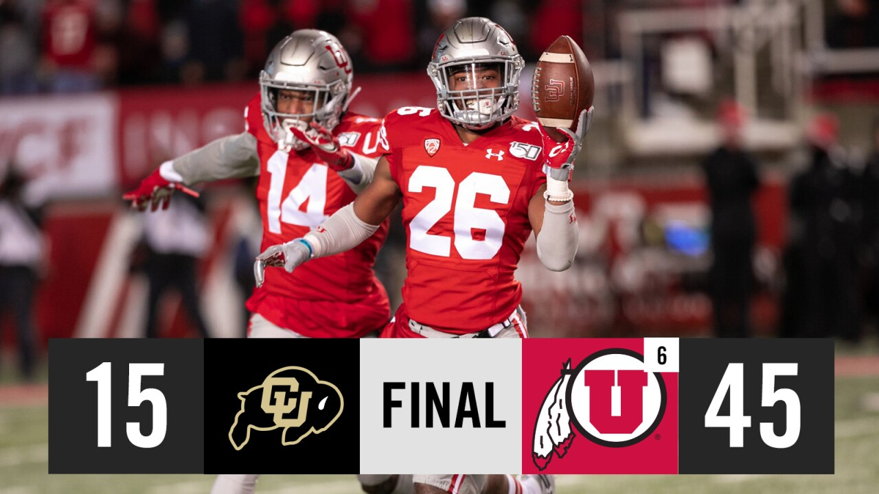 Utes clinch spot in Pac-12 Championship Game with 45-15 win over Colorado