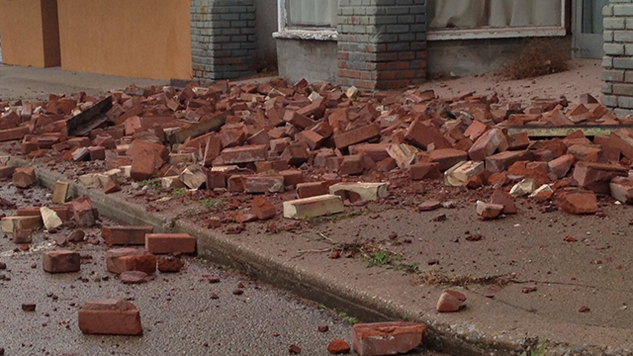 PHOTOS: Damage following 5.0 magnitude quake