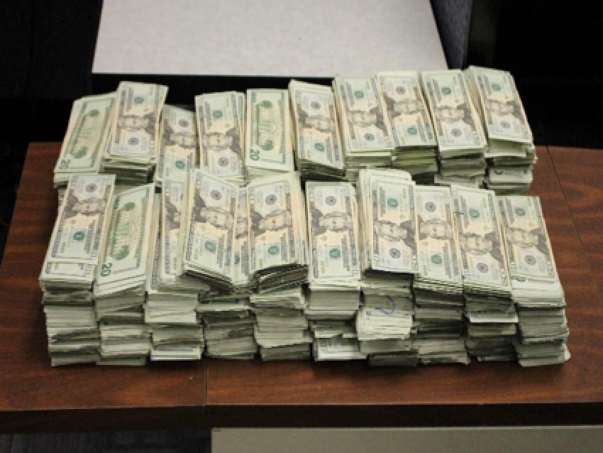 Cash seized in undercover FBI investigation