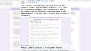There is an open letter to thank grocery store workers
