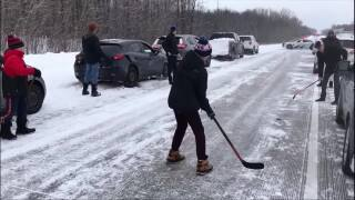 Video extra: Highway hockey in Canada