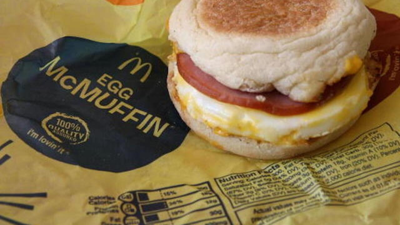 Angry McDonald's customer pulled gun when told restaurant was out of McMuffins