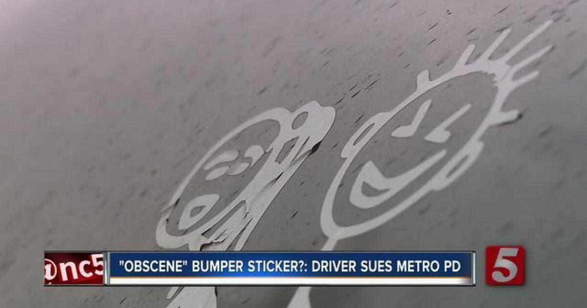 nashville man cited for  u0026 39 obscene u0026 39  bumper sticker sues police