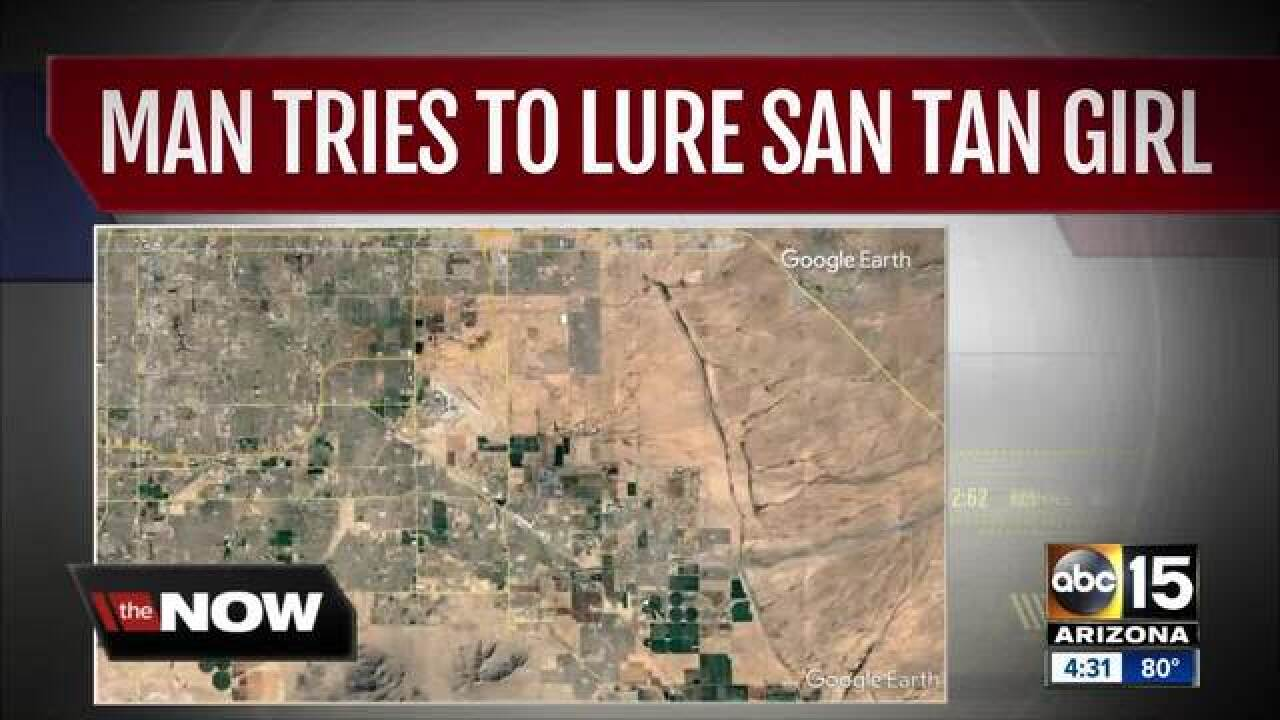 PCSO: Man tried to lure girl in San Tan Valley