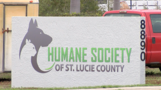 Humane Society of St. Lucie County sign