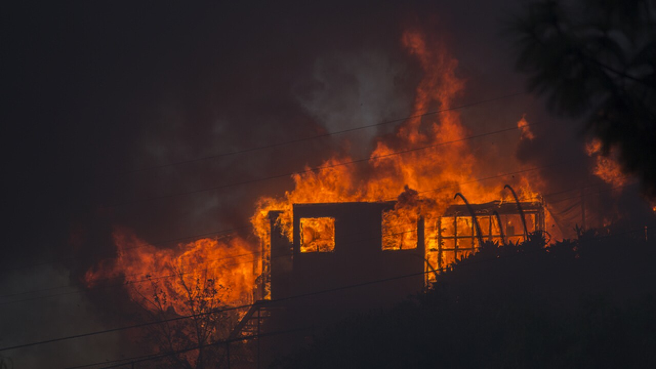 L.A. fire rages near Bel Air, the Getty museum