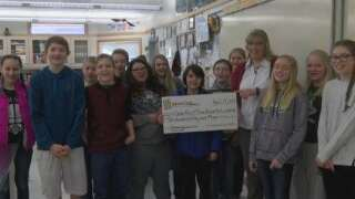 Three Forks Middle School awarded One Class At A Time check