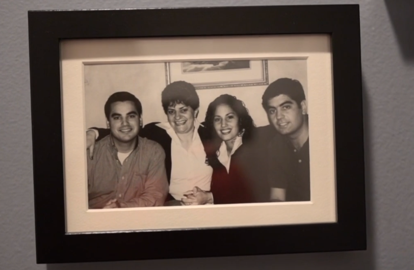 Steve Villanueva family photo hanging on wall