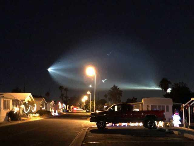 SpaceX rocket launch seen across Arizona Friday night