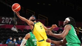 Australia pulls away from Nigeria in men's basketball