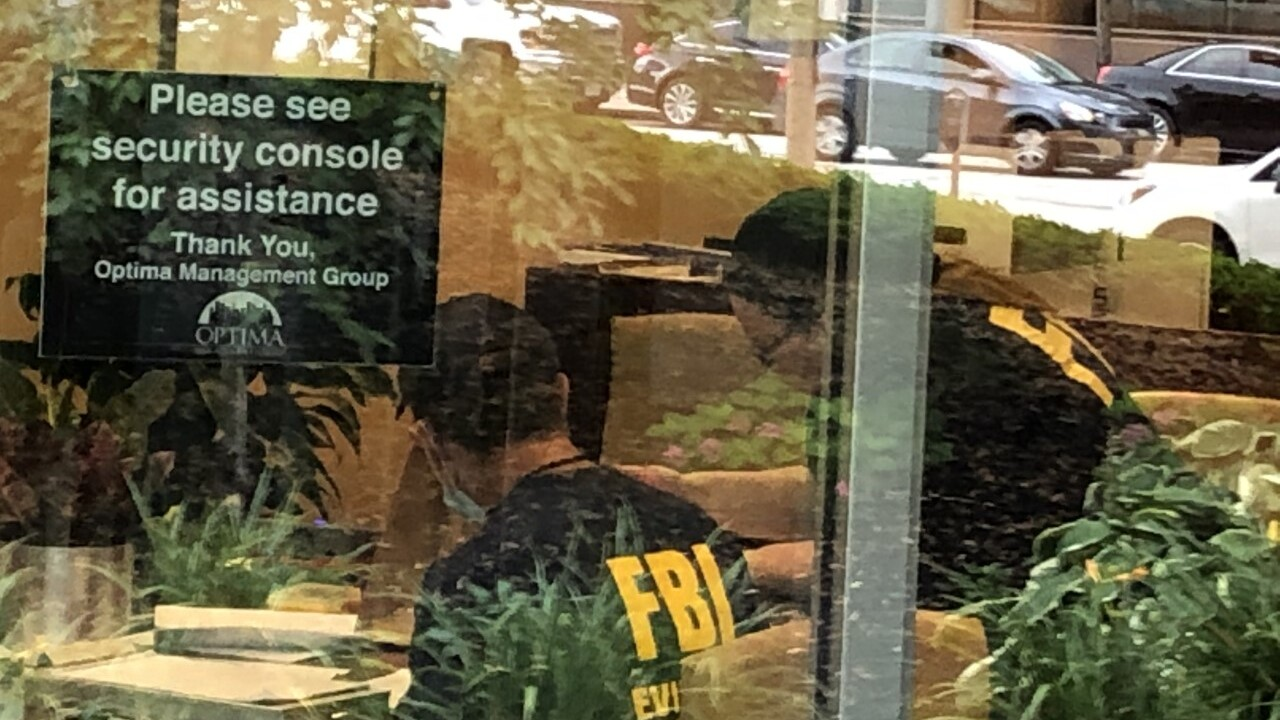 A spokesperson for the Cleveland Division of the FBI confirmed the presence of agents outside One Cleveland Center on Tuesday morning