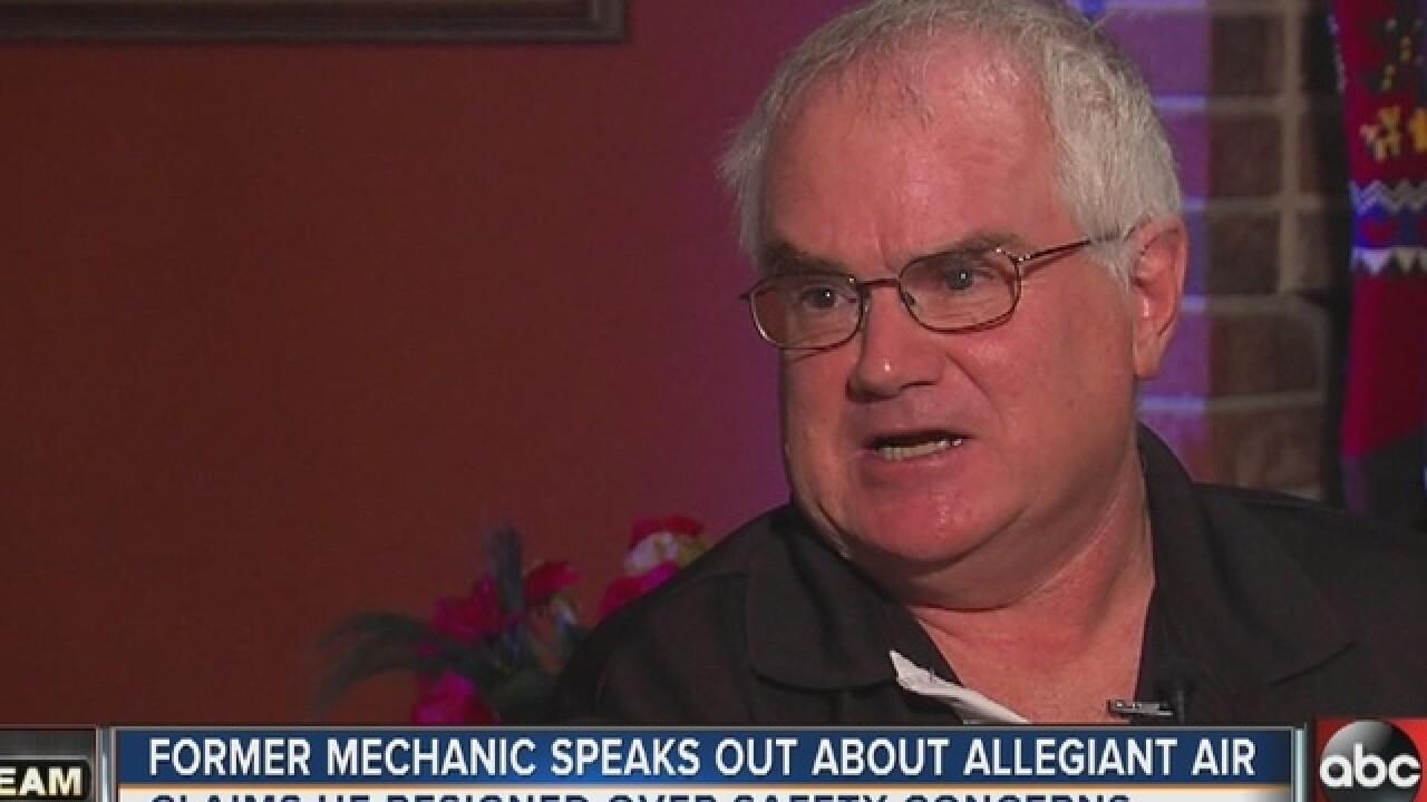 Former Allegiant mechanic has safety concerns