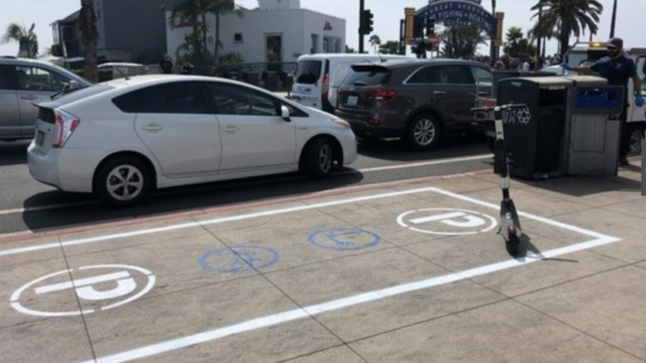 Parking spot option for dockless bikes, scooters