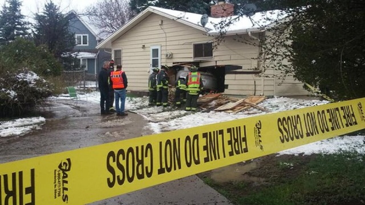 Car plows into Fort Collins home
