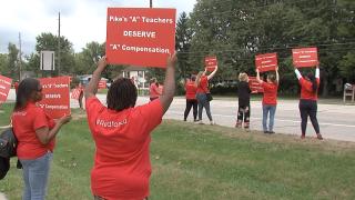 Pike Teachers protesting