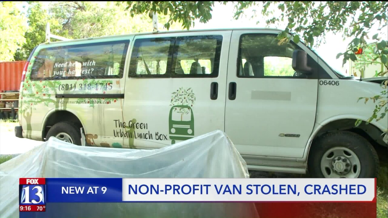 Local non-profit concerned for community impact after delivery van is stolen,totaled
