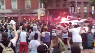 NYPD rams protesters