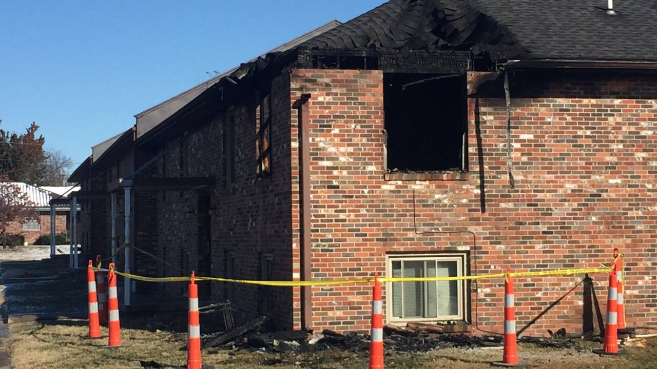 Clinton apartment fire