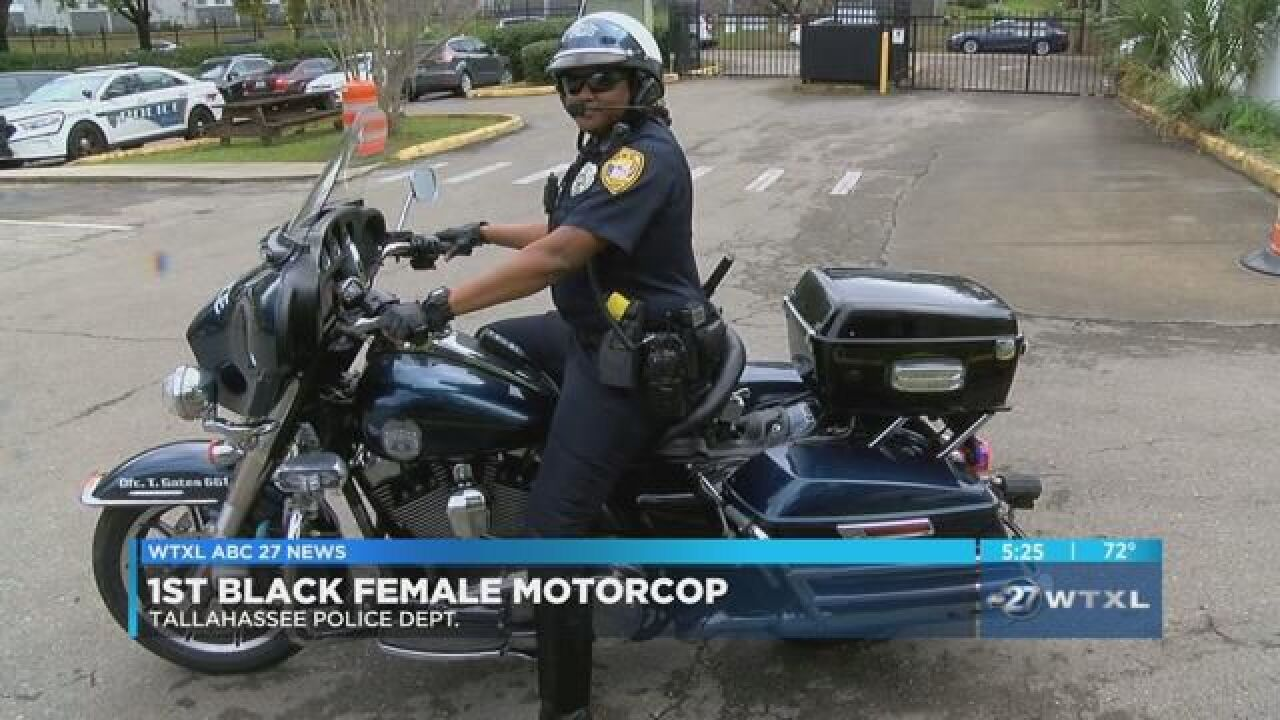 TPD welcomes first female motorcycle officer