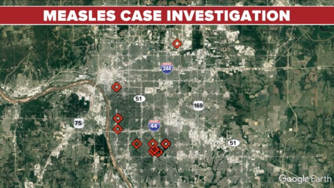 THD investigating measles case
