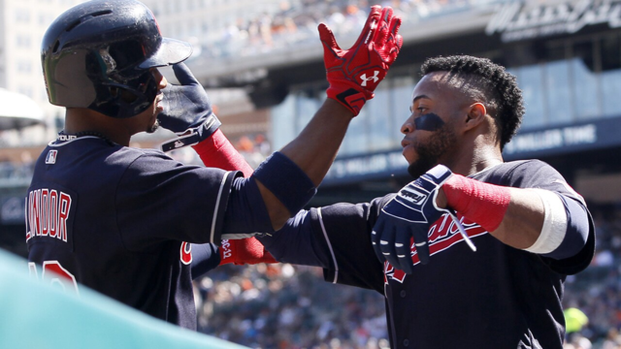 Lindor hits 2 HR; Indians shut out Tigers