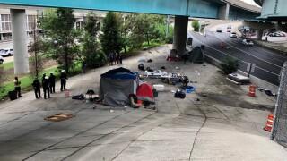 Homeless camp near Lytle Tunnel