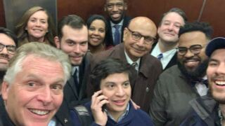 Terry McAuliffe elevator.JPG