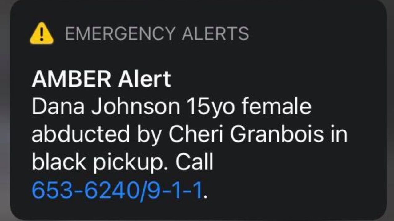 AMBER Alert issued for teen in Roosevelt County