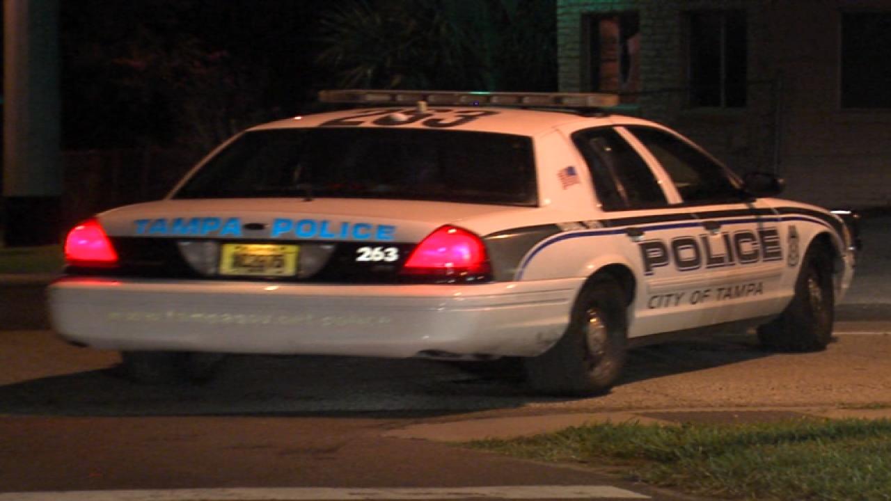 Tampa Police car at night