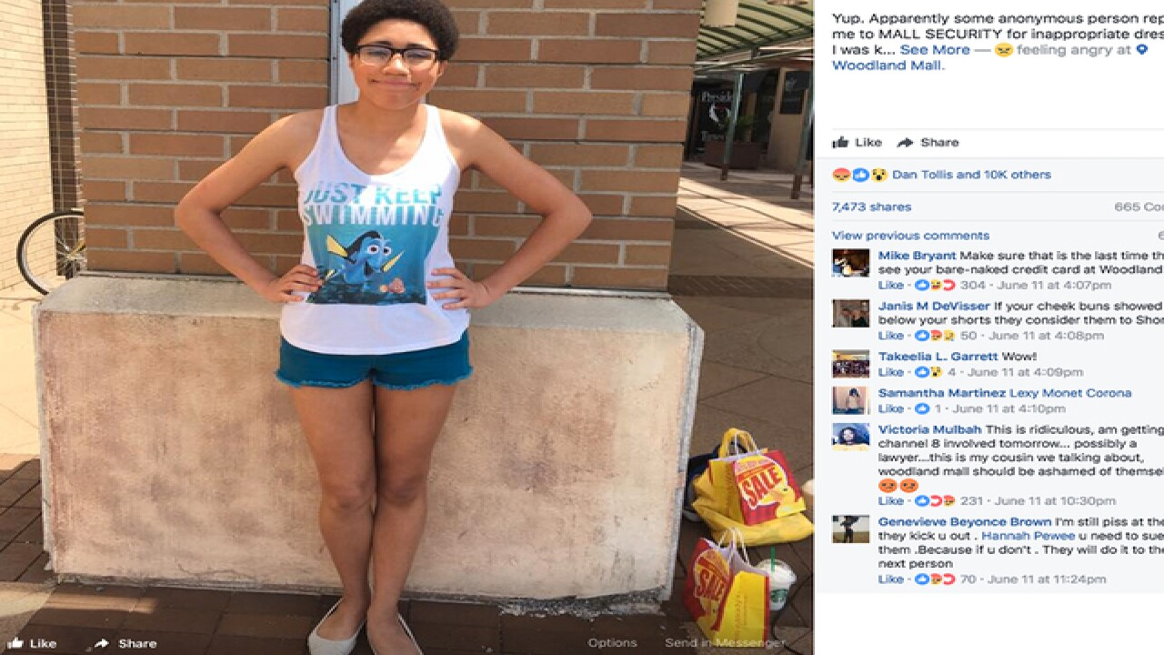 f69f16b70f636a Woman kicked out of mall for  inappropriate dress  takes stand in social  media post