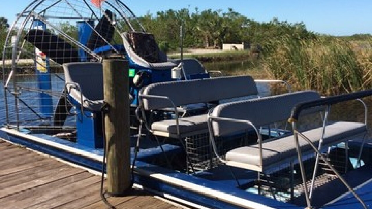 Corey Billie's airboat tour of the Everglades