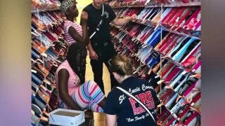 St. Lucie County children receive shoes for back to school