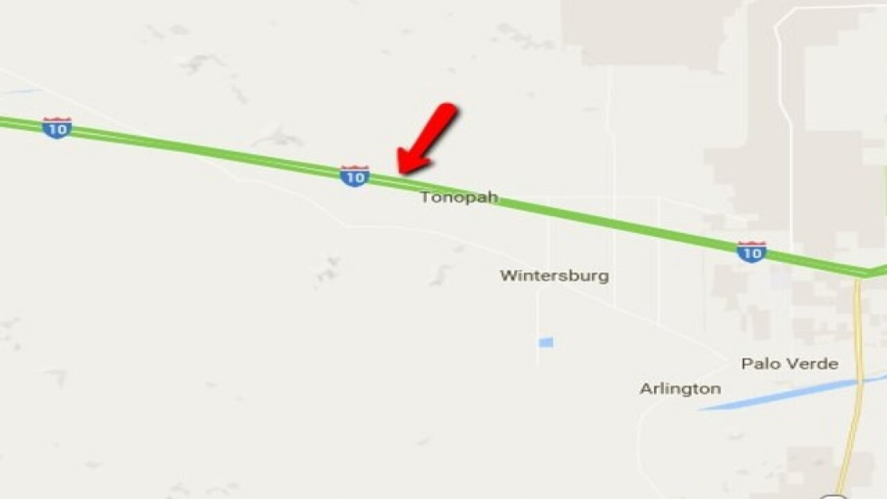 I-10 CLOSED near Tonopah for police incident