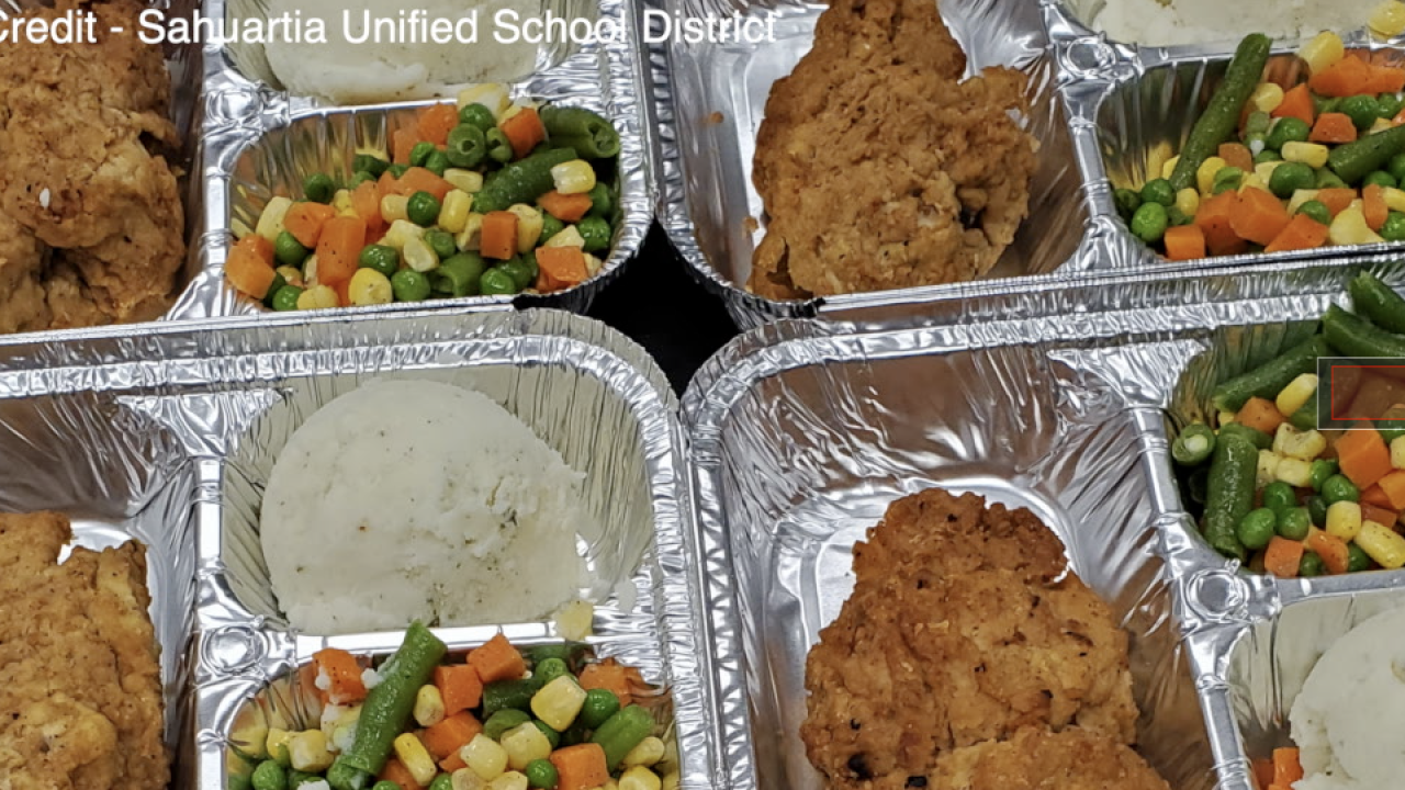 Sahuarita Unified School District grab-and-go meal program