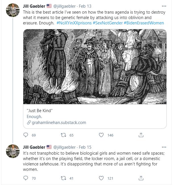 Jill Gaebler tweet