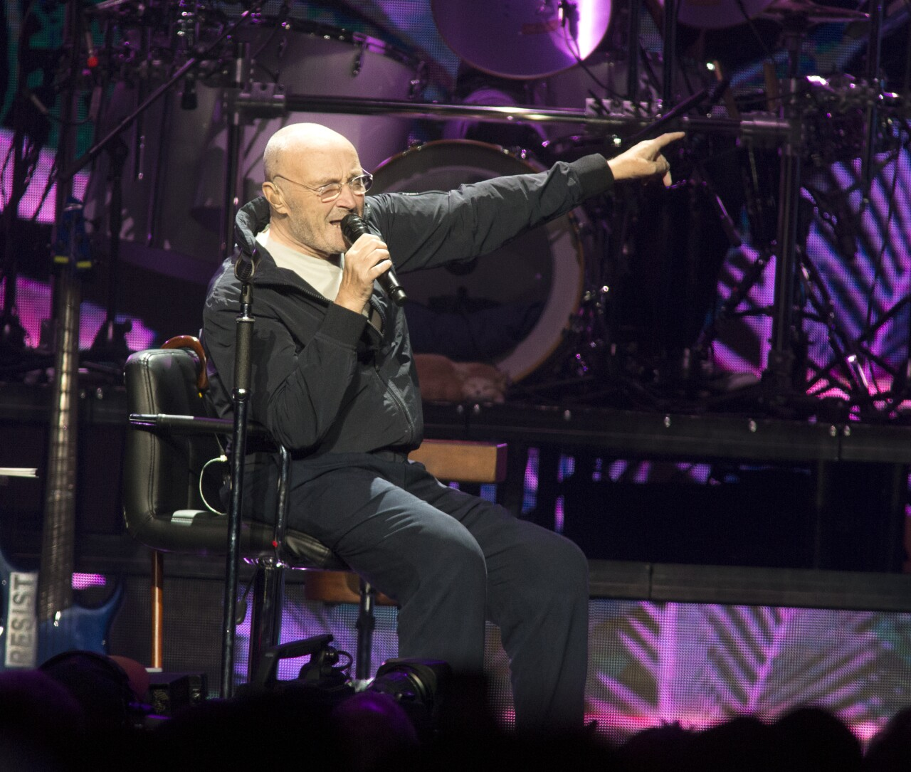 Phil Collins performs in Philadelphia in 2018